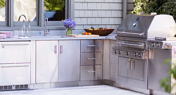 Stainless Steel Doors For Outdoor Kitchen  Stainless Steel Outdoor Kitchens