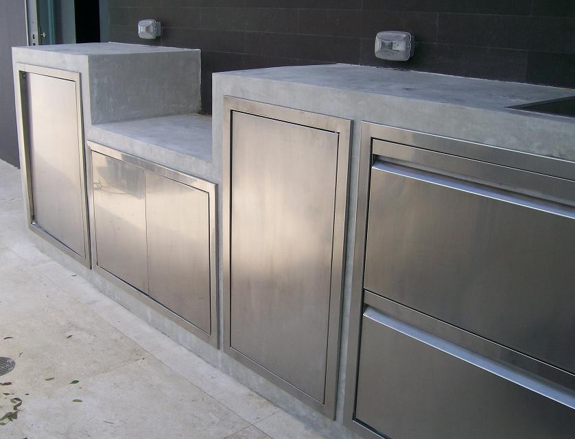 Stainless Steel Doors For Outdoor Kitchen  The Stainless Steel Outdoor Kitchen Cabinets for Your Home