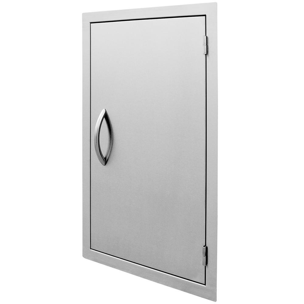 Stainless Steel Doors For Outdoor Kitchen  Cal Flame 32 in Vertical Stainless Steel Door BBQ 32