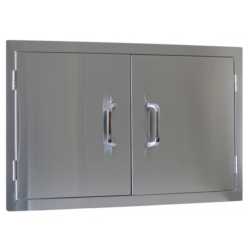 Stainless Steel Doors For Outdoor Kitchen  New Beefeater Built In Stainless Steel 2 Door Outdoor