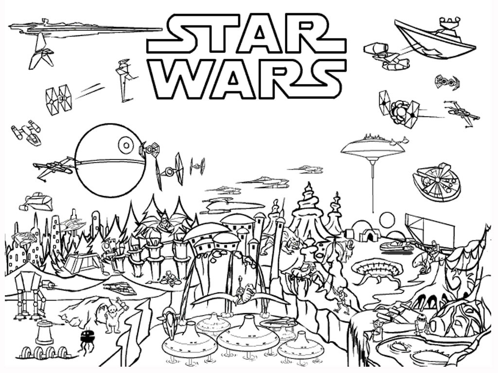 Star Wars Christmas Coloring Pages  Star Wars Coloring Pages