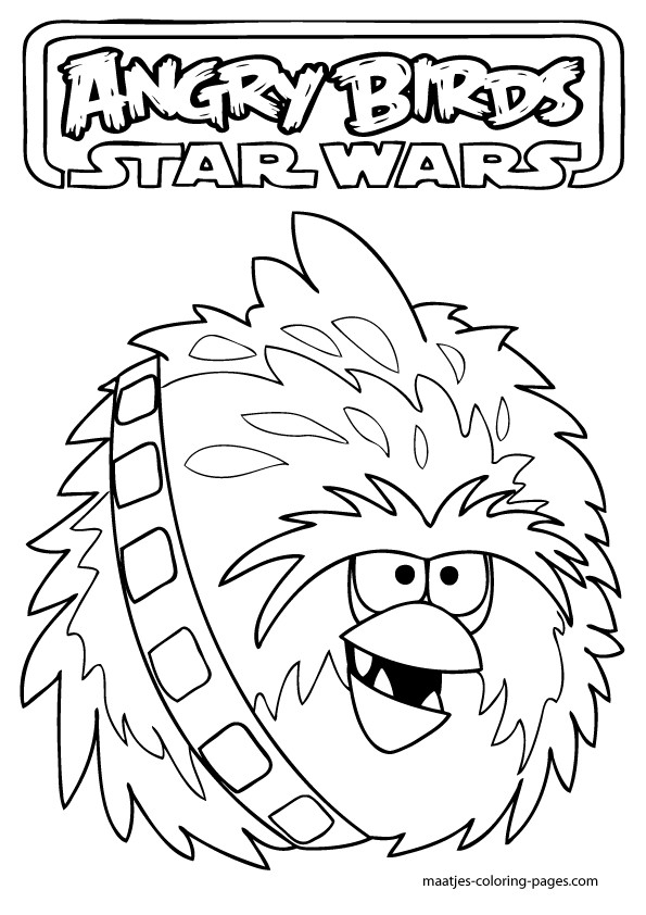 Star Wars Christmas Coloring Pages  Angry Birds Star Wars Coloring Pages Printable Coloring Home