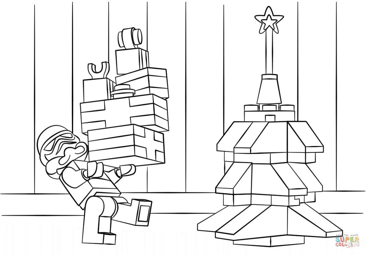 Star Wars Christmas Coloring Pages  Lego Star Wars Clone Christmas coloring page