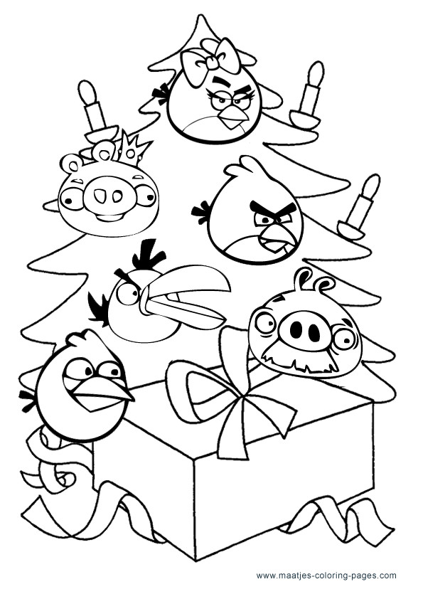 Star Wars Christmas Coloring Pages  Angry Birds Christmas Coloring Pages