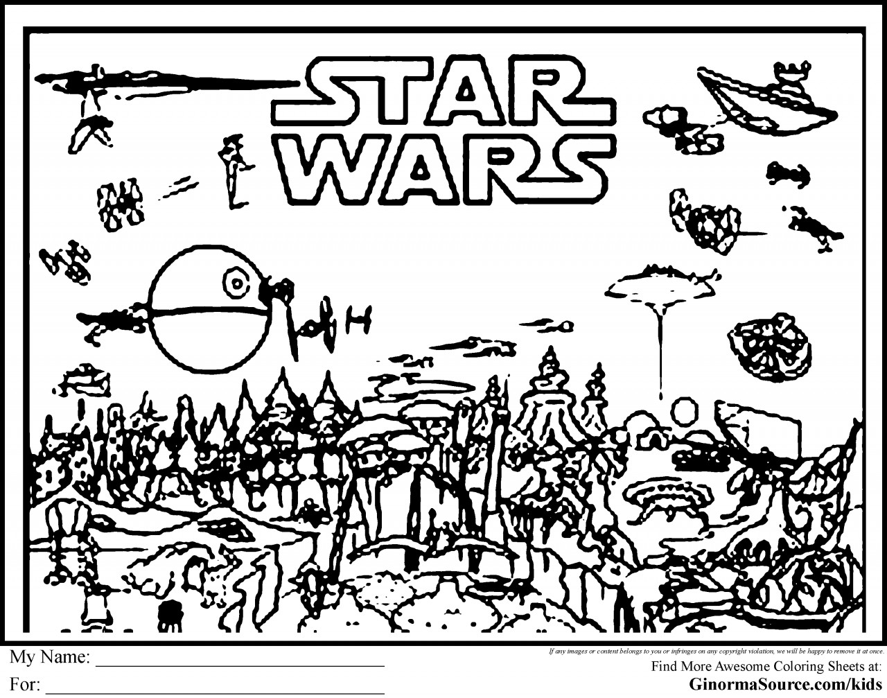 Star Wars Christmas Coloring Pages  Star Wars Coloring Pages Printable