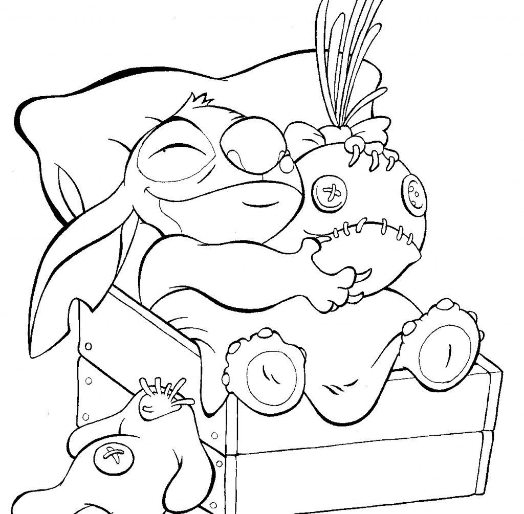 Stitch Coloring Pages To Print  Free Printable Lilo and Stitch Coloring Pages For Kids