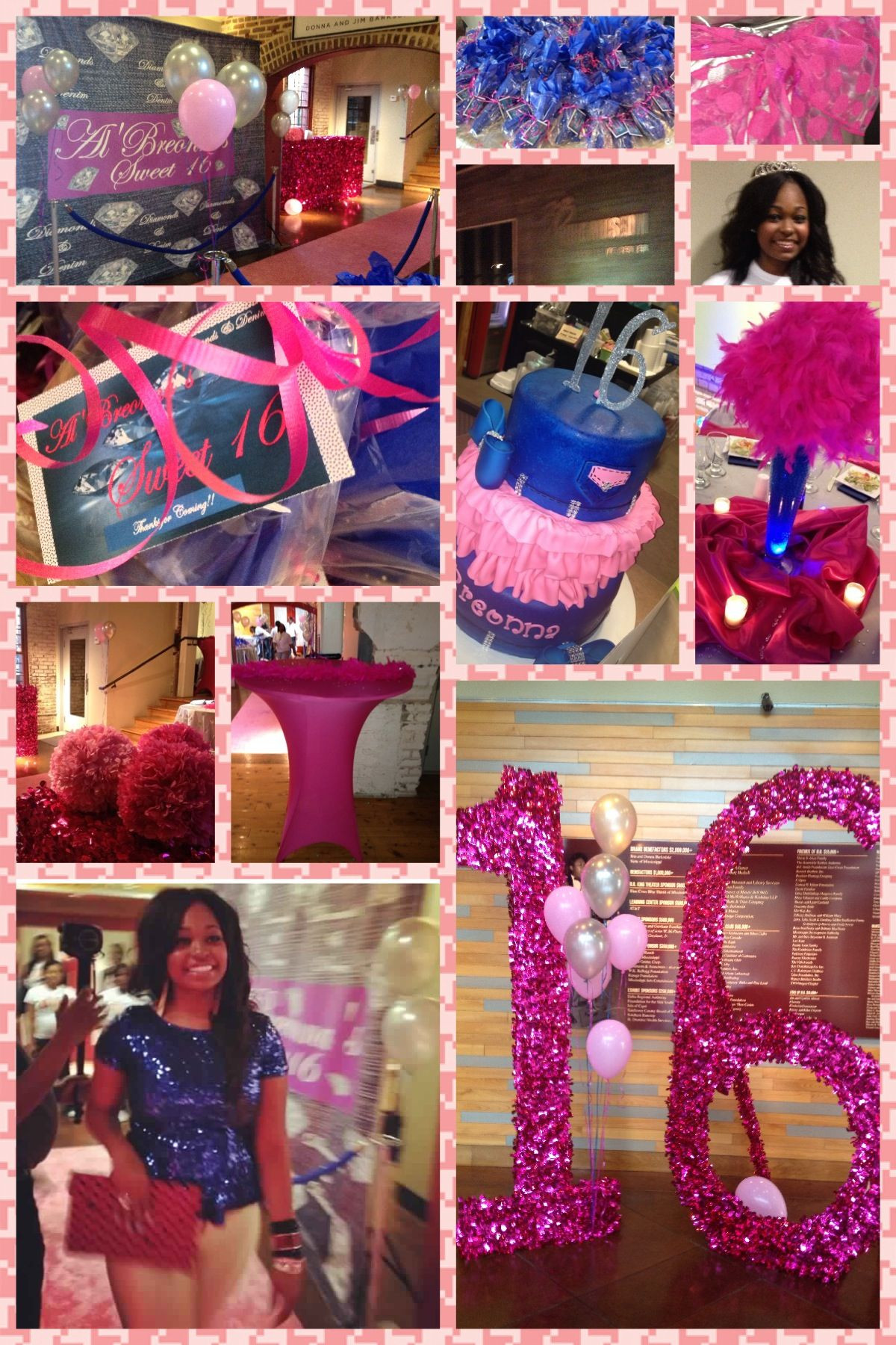 Sweet 16 Dinner Party Ideas  Collage of Sweet 16 Event by Tonia Sims Indianola MS