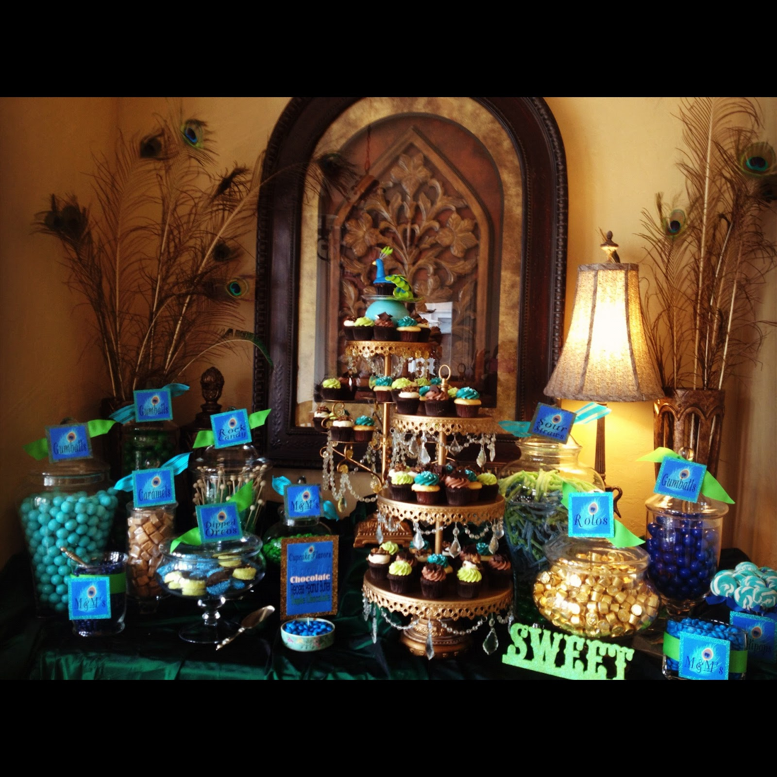 Sweet 16 Dinner Party Ideas  SugarPalooza Peacock Inspired Sweet 16 Birthday Dinner