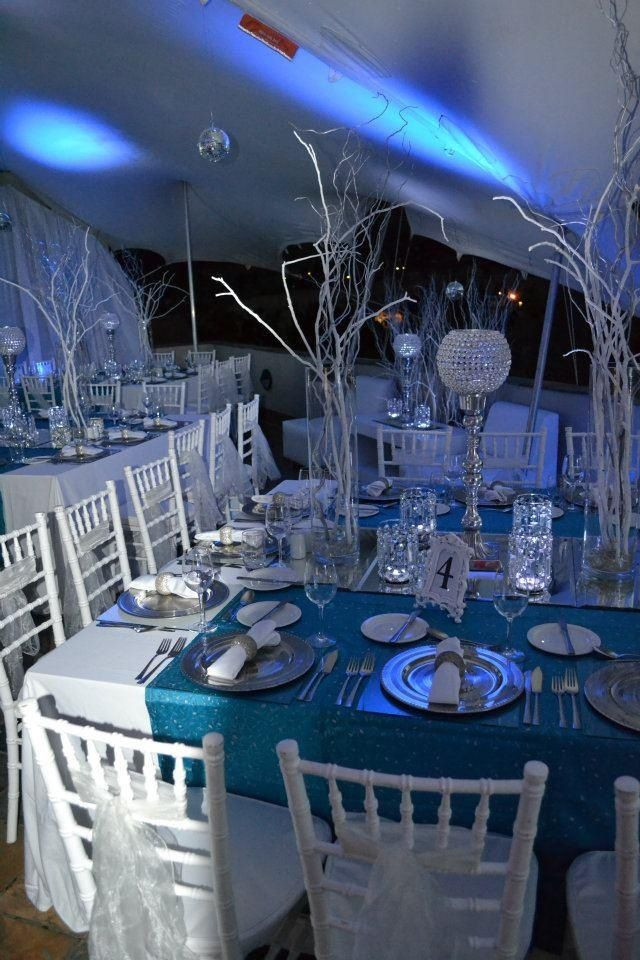 Sweet 16 Dinner Party Ideas  Winter Wonderland Themed dinner