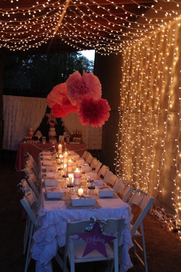 Sweet 16 Dinner Party Ideas  Under the Stars Tween Teen Outdoor Birthday Party Planning