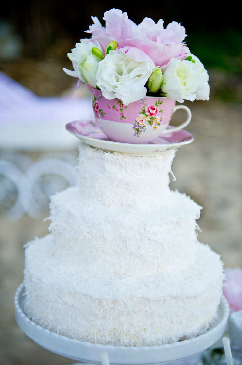 Tea Party Cake Ideas  Kara s Party Ideas High Tea The Beach Party