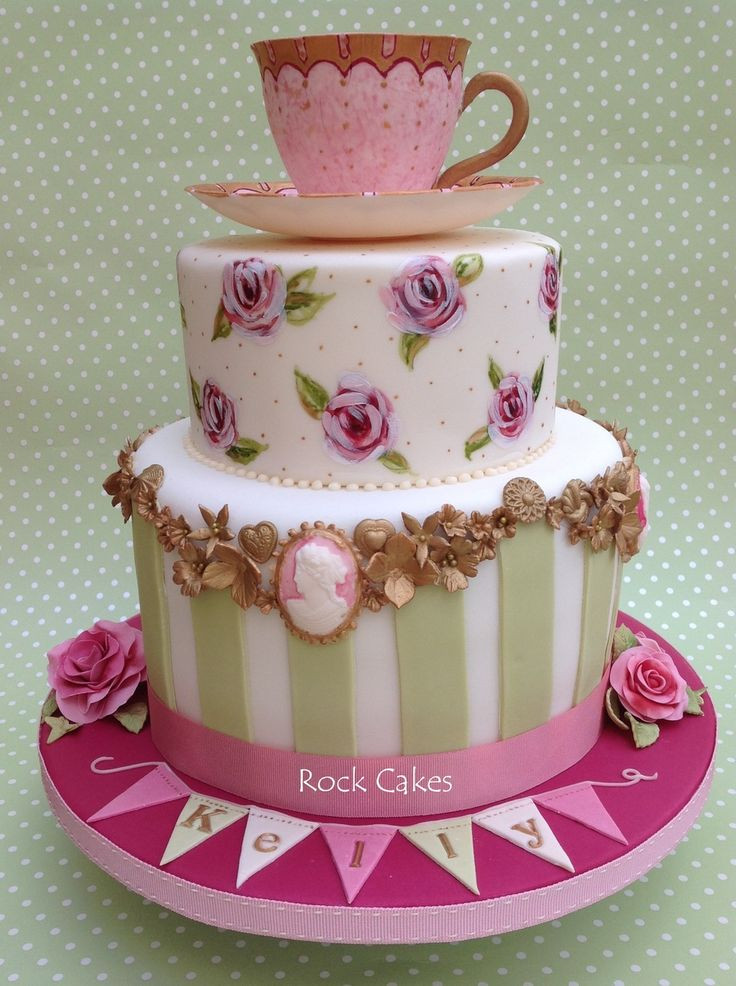 Tea Party Cake Ideas  390 best images about Cameo Cakes on Pinterest
