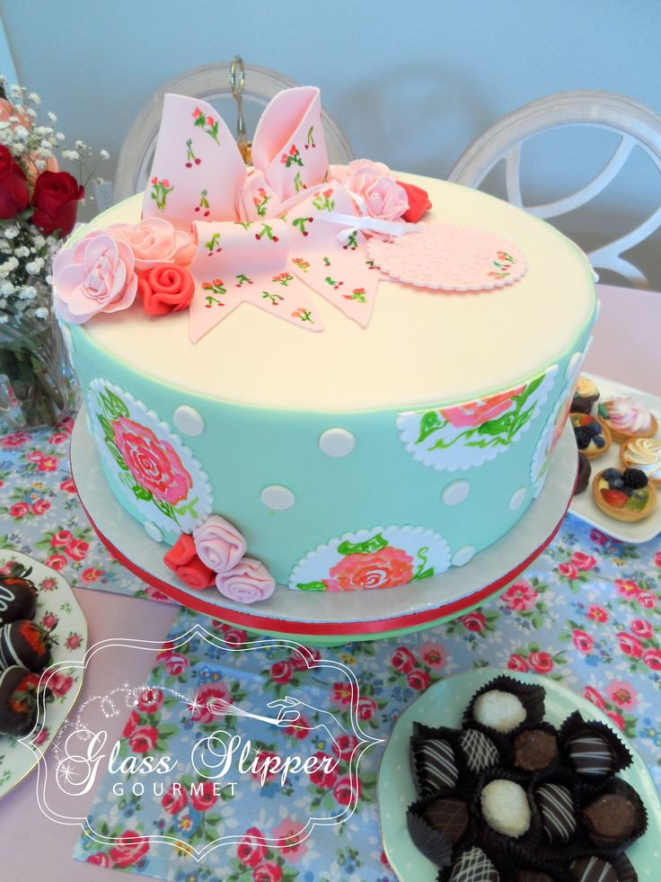 Tea Party Cake Ideas  Priscilla's Rose Themed Tea Party Shower and Pedestal Cake