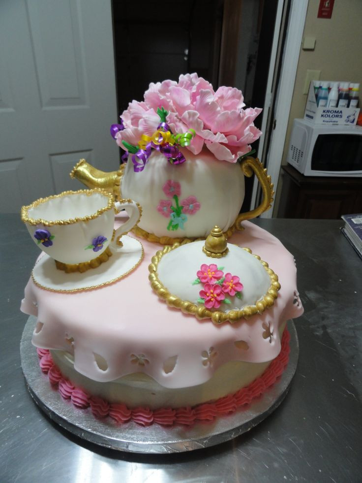 Tea Party Cake Ideas  17 Best images about Little girls tea party on Pinterest
