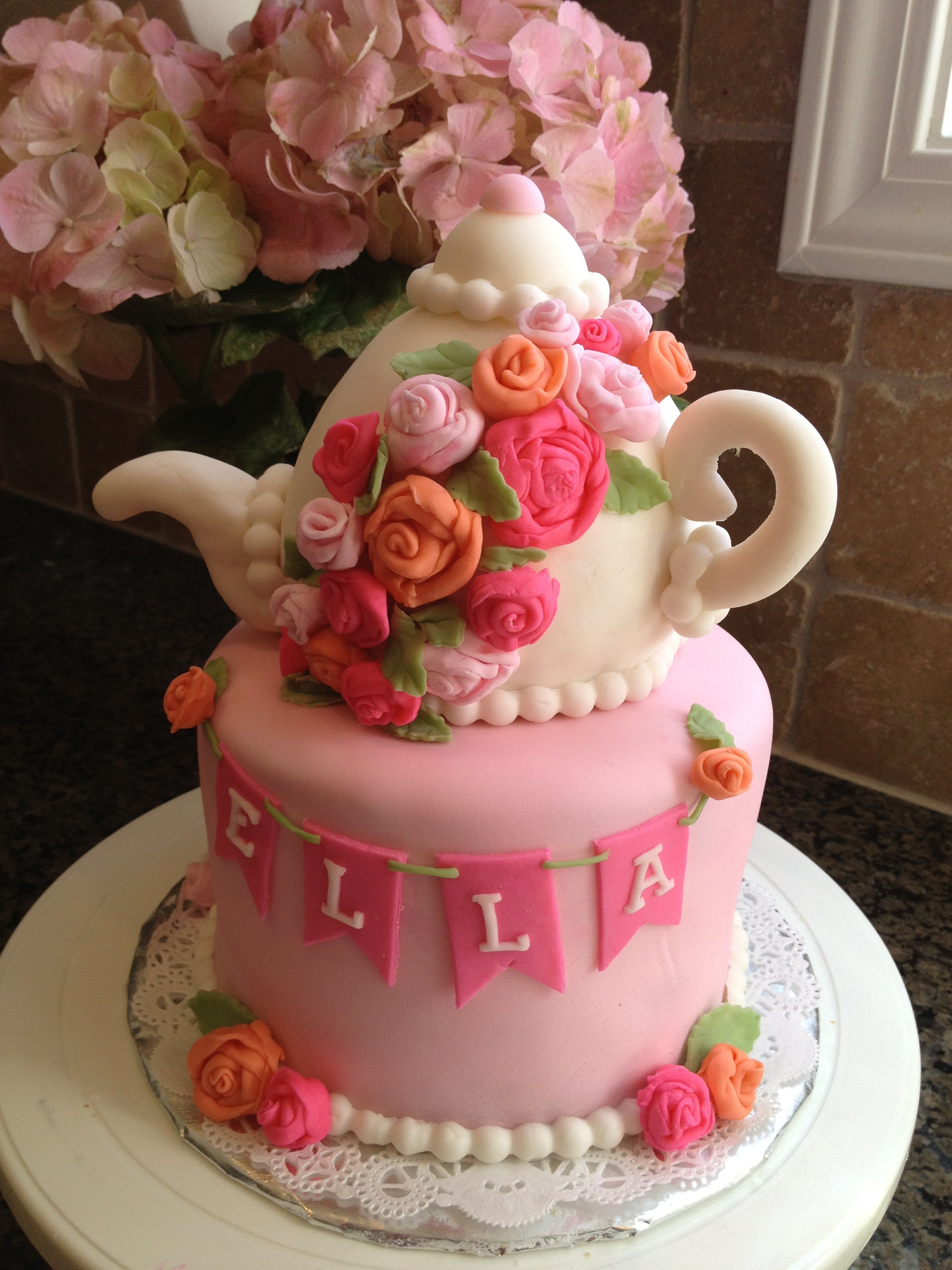 Tea Party Cake Ideas  Tea Party Tea Pot Cake