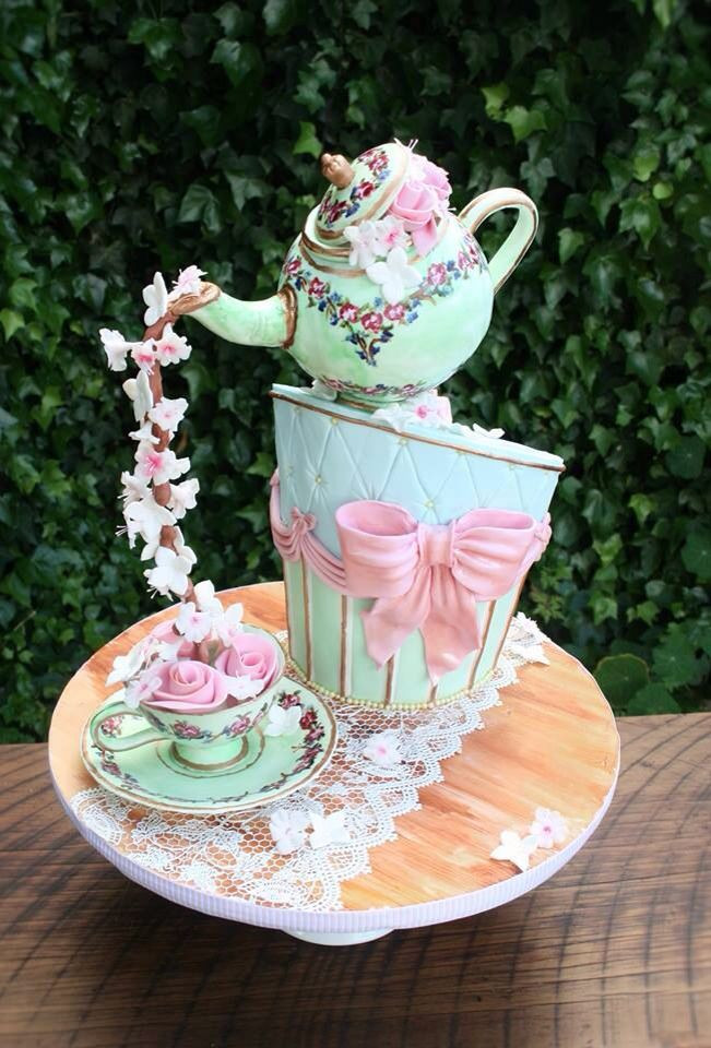 Tea Party Cake Ideas  10 best ideas about Teapot Cake on Pinterest