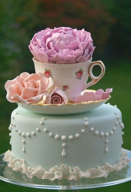 Tea Party Cake Ideas  25 best ideas about Teacup Cake on Pinterest