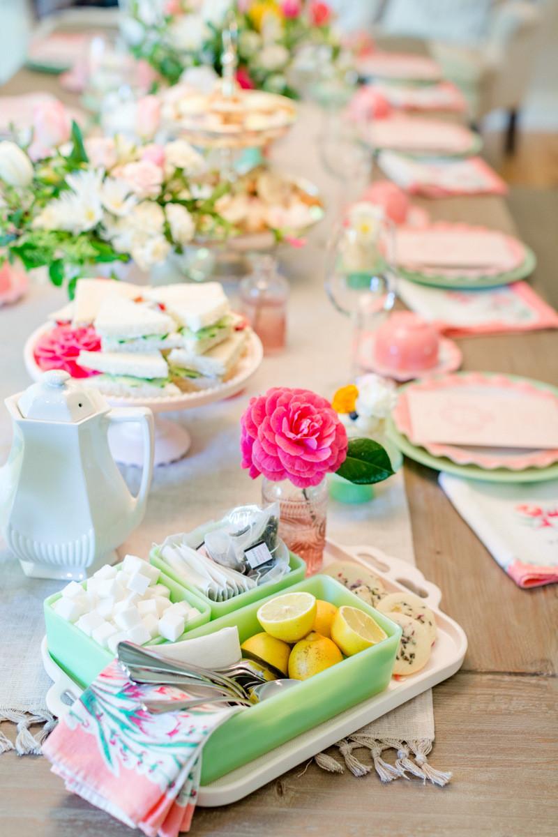 Tea Party Ideas  How to Host a La s Tea Party – Jenny Cookies