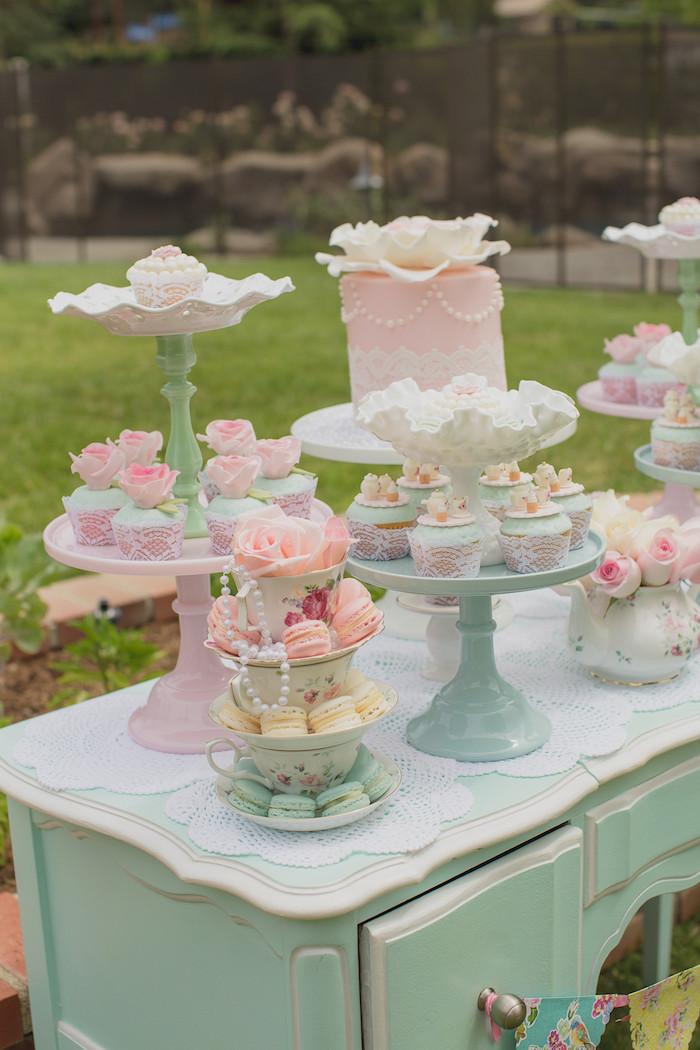 Tea Party Ideas  Kara s Party Ideas Pink Vintage Tea Party