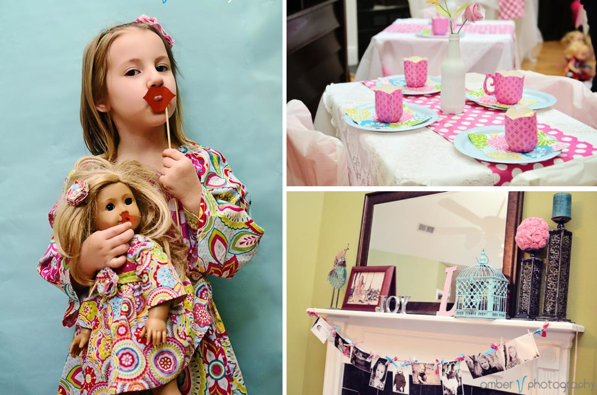Tea Party Ideas For Girls  Kara s Party Ideas Dollie and Me Girl 5th Birthday Tea