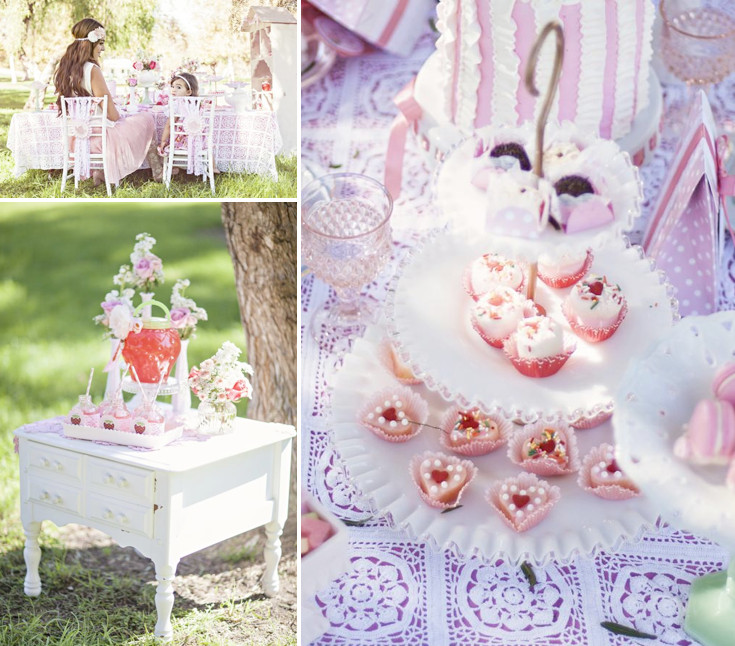 Tea Party Ideas For Girls  Kara s Party Ideas Shabby Chic Mommy Me Girl Outdoor