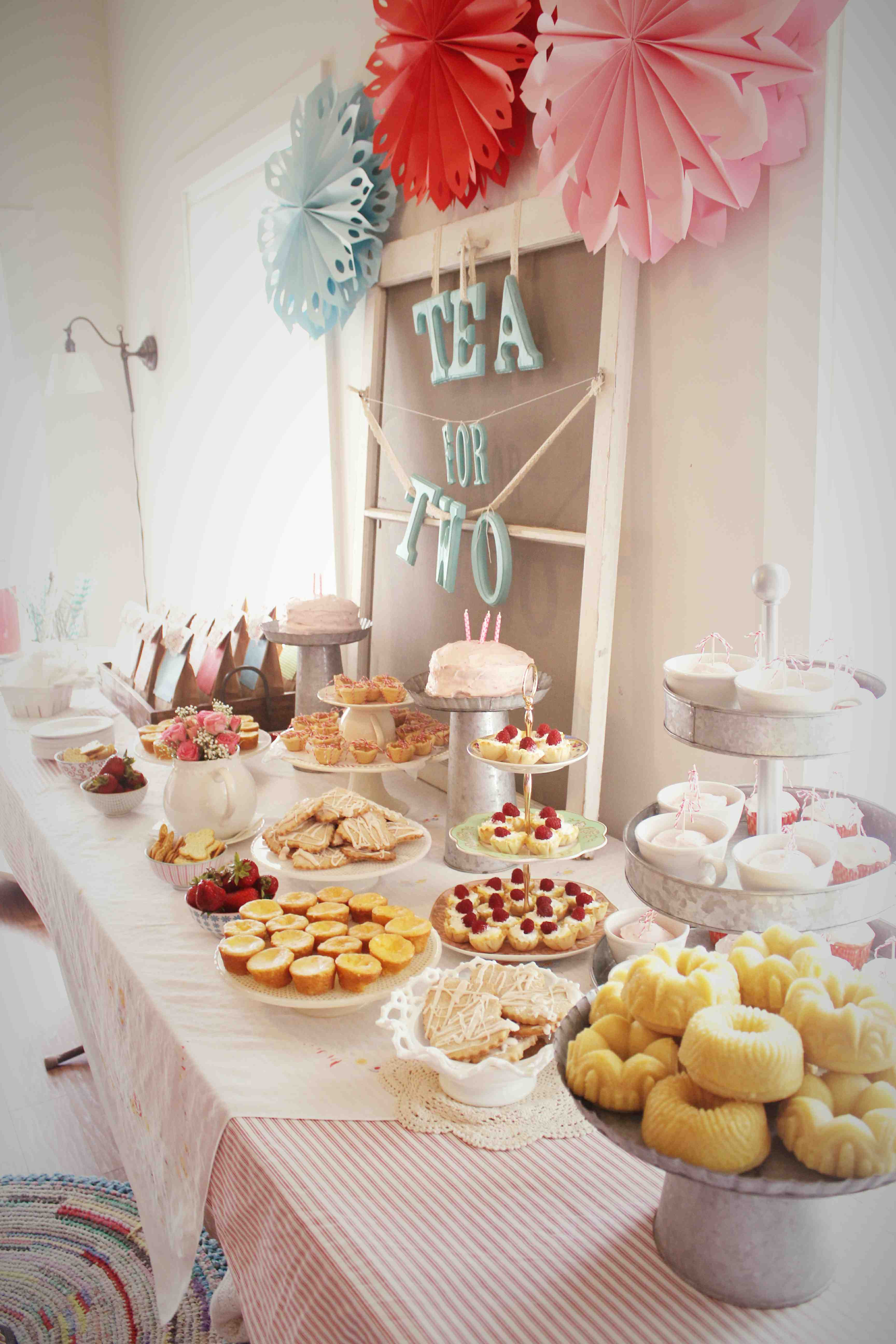 """Tea Party Ideas  A """"Tea For Two"""" Birthday Party"""