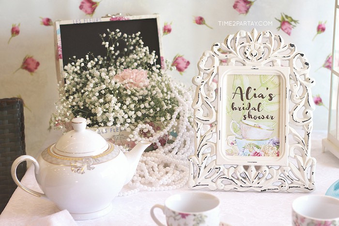 Tea Party Shower Ideas  Kara s Party Ideas Afternoon Tea Bridal Shower