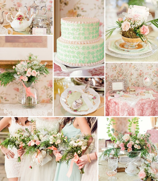 Tea Party Shower Ideas  Top 5 2014 Trending Girly Vintage Bridal Shower Ideas