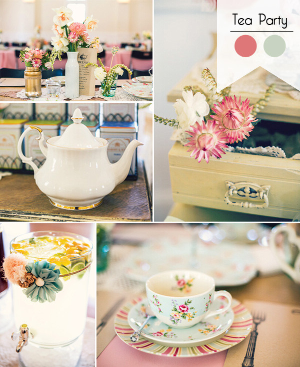 Tea Party Shower Ideas  Great 8 Bridal Shower Theme Ideas You Will Love for 2016