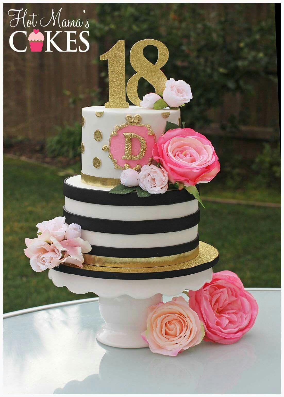 Teenage Birthday Cakes Ideas  Stripes and spots cake Cakes