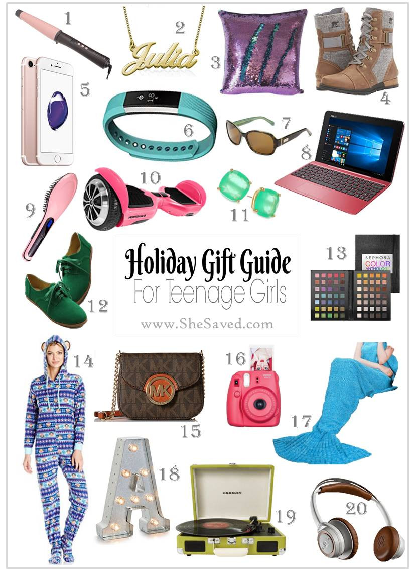 Teenage Girlfriend Gift Ideas  HOLIDAY GIFT GUIDE Gifts for Teen Girls SheSaved