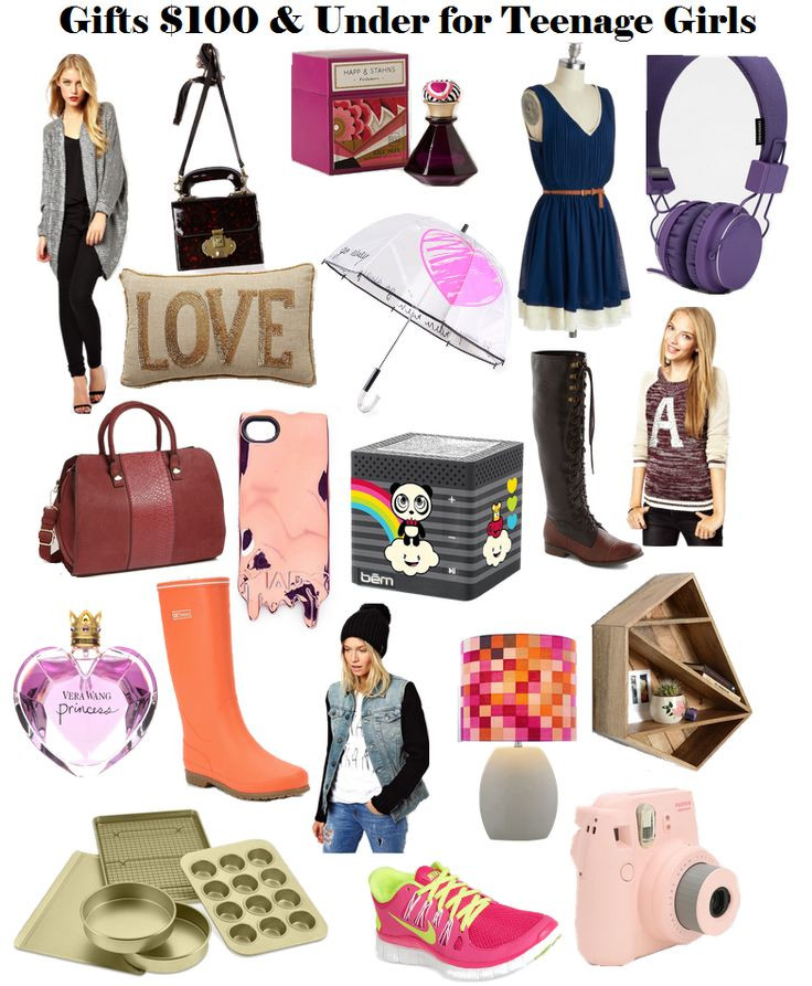 Teenage Girlfriend Gift Ideas  Holiday Gift Ideas for Teen Girls Under $50 or $100 I
