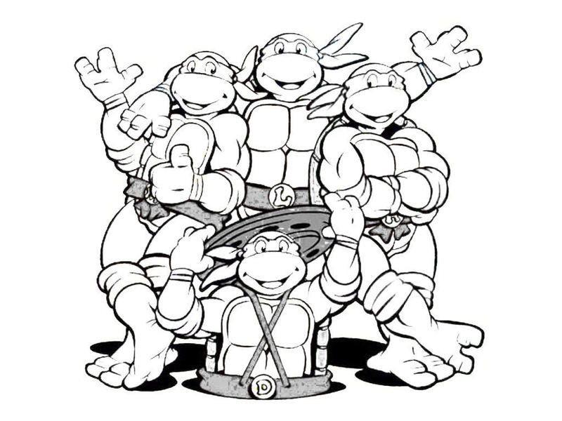 Teenage Mutant Ninja Turtle Coloring Pages  Teenage Mutant Ninja Turtles Coloring Page Coloring Home
