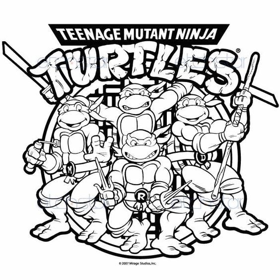 Teenage Mutant Ninja Turtle Coloring Pages  Pix For Teenage Mutant Ninja Turtles Drawings