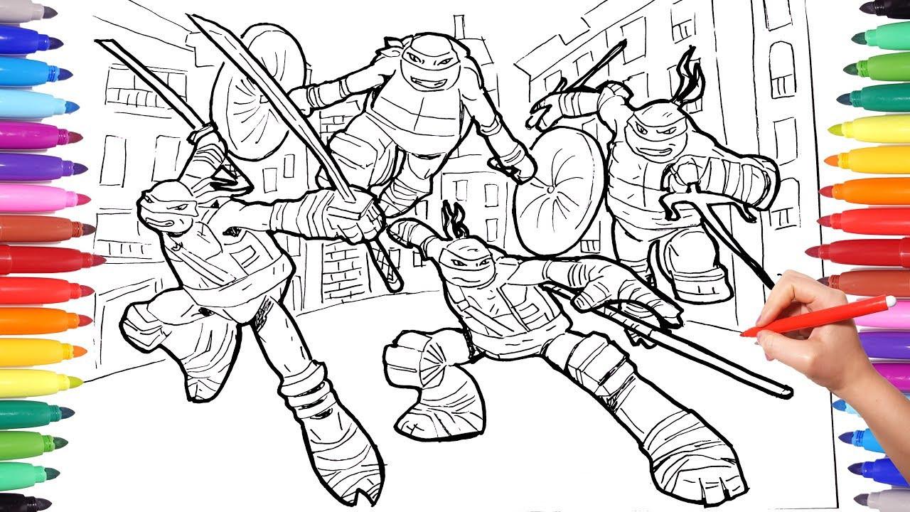 Teenage Mutant Ninja Turtle Coloring Pages  TEENAGE MUTANT NINJA TURTLES Coloring Pages for Kids