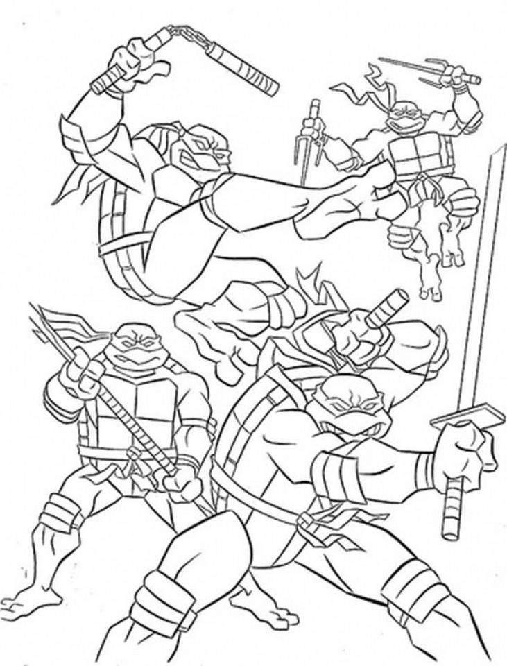 Teenage Mutant Ninja Turtle Coloring Pages  20 Free Printable Teenage Mutant Ninja Turtles Coloring