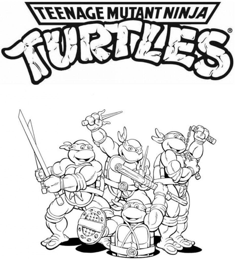 Teenage Mutant Ninja Turtle Coloring Pages  Coloring Pages Teenage Mutant Ninja Turtles Coloring Home