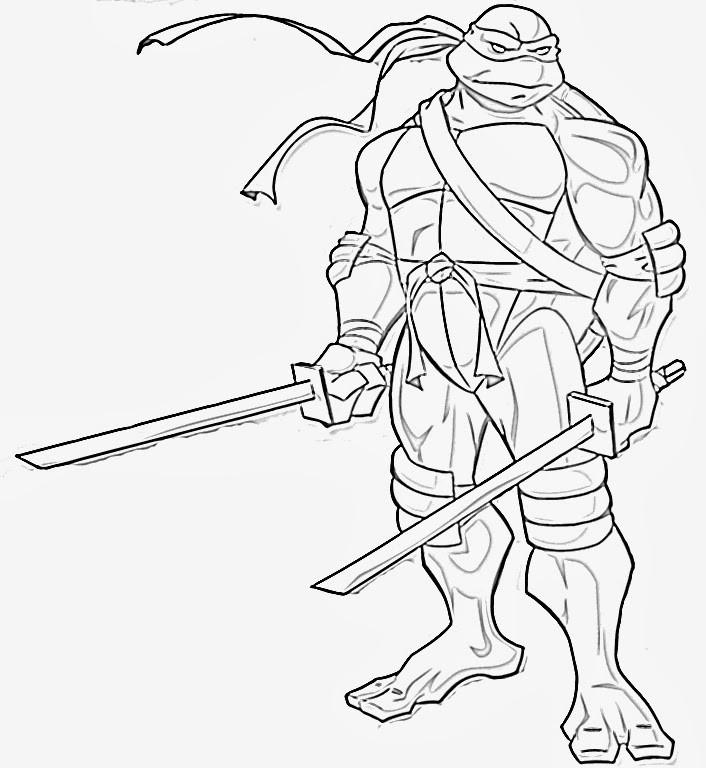 Teenage Mutant Ninja Turtle Coloring Pages  Craftoholic Teenage Mutant Ninja Turtles Coloring Pages