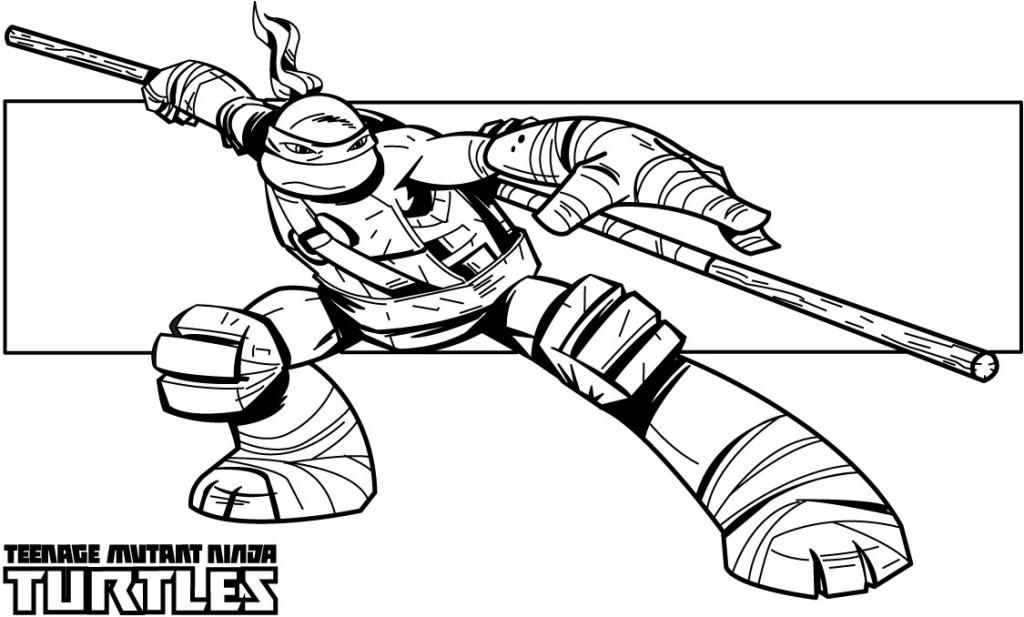 Teenage Mutant Ninja Turtle Coloring Pages  Ninja Turtle Coloring Pages AZ Coloring Pages