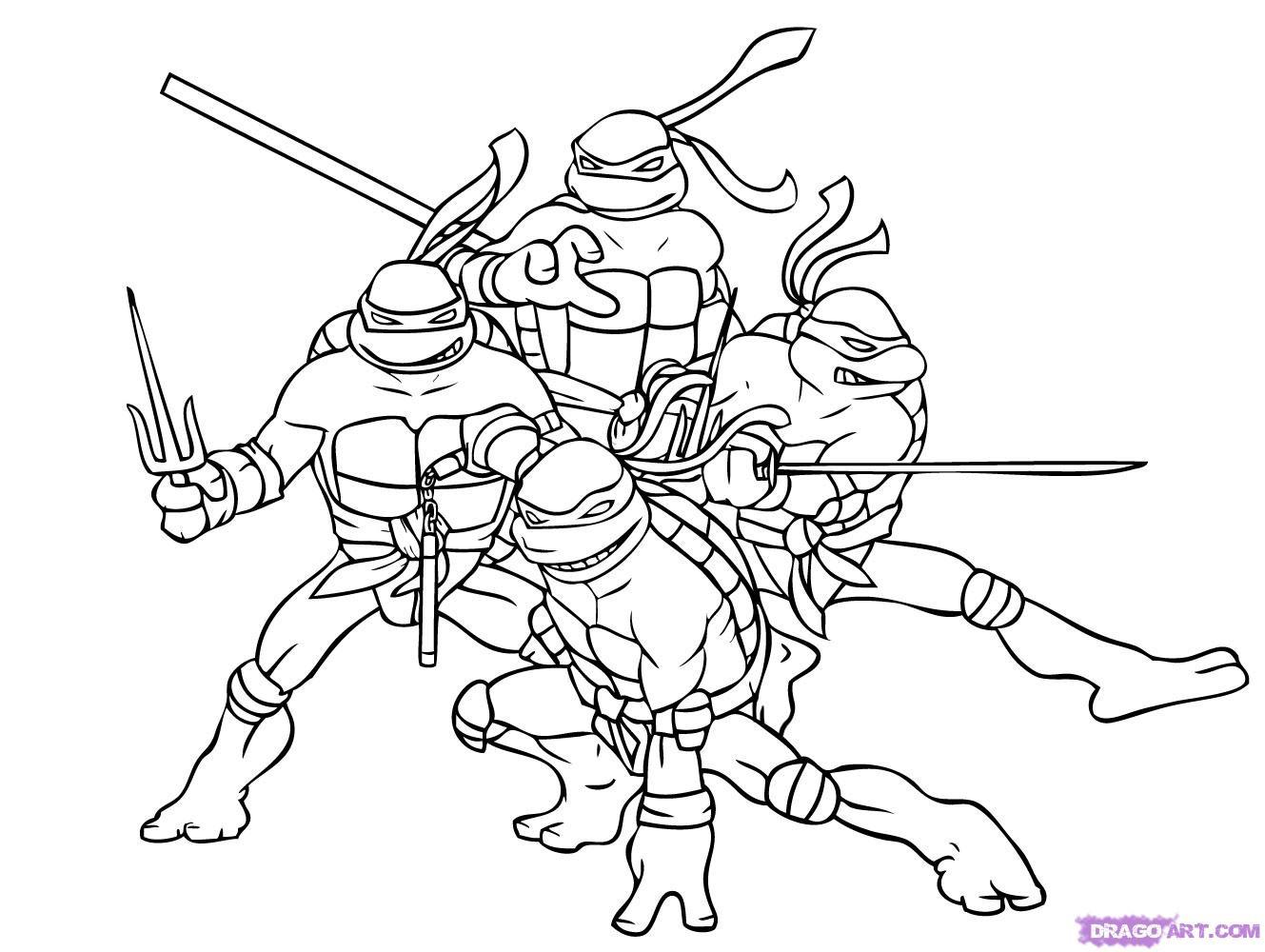 Teenage Mutant Ninja Turtle Coloring Pages  Nickelodeon Coloring Pages Teenage Mutant Ninja Turtles