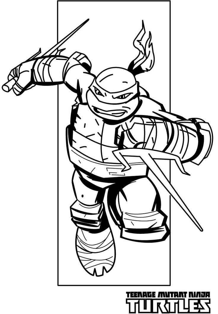 Teenage Mutant Ninja Turtle Coloring Pages  teenage mutant ninja turtles coloring pages raphael