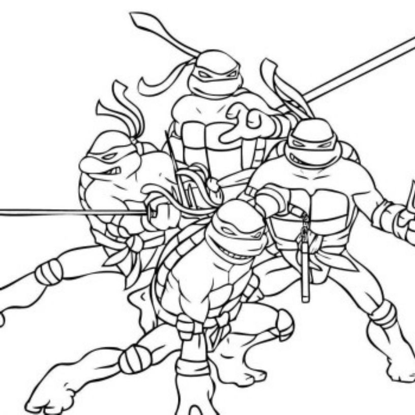 Teenage Mutant Ninja Turtle Coloring Pages  Print & Download The Attractive Ninja Coloring Pages for