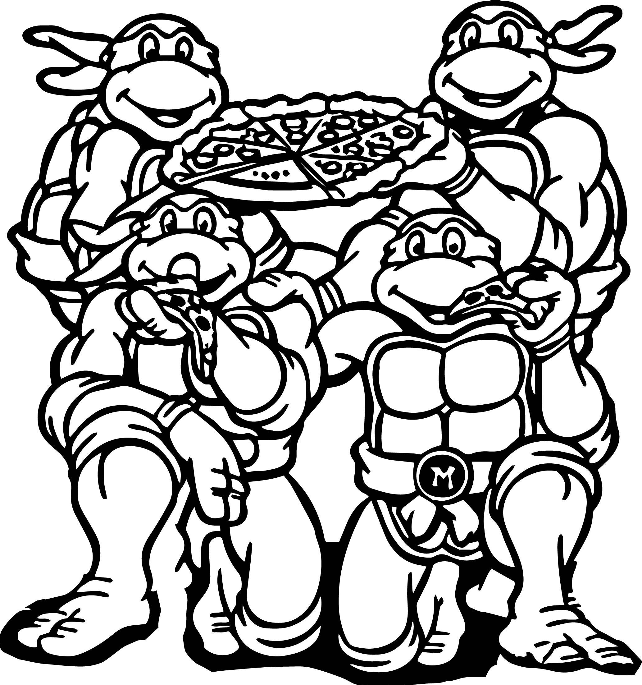 Teenage Mutant Ninja Turtle Coloring Pages  Teenage Mutant Ninja Turtle Coloring Pages coloringsuite
