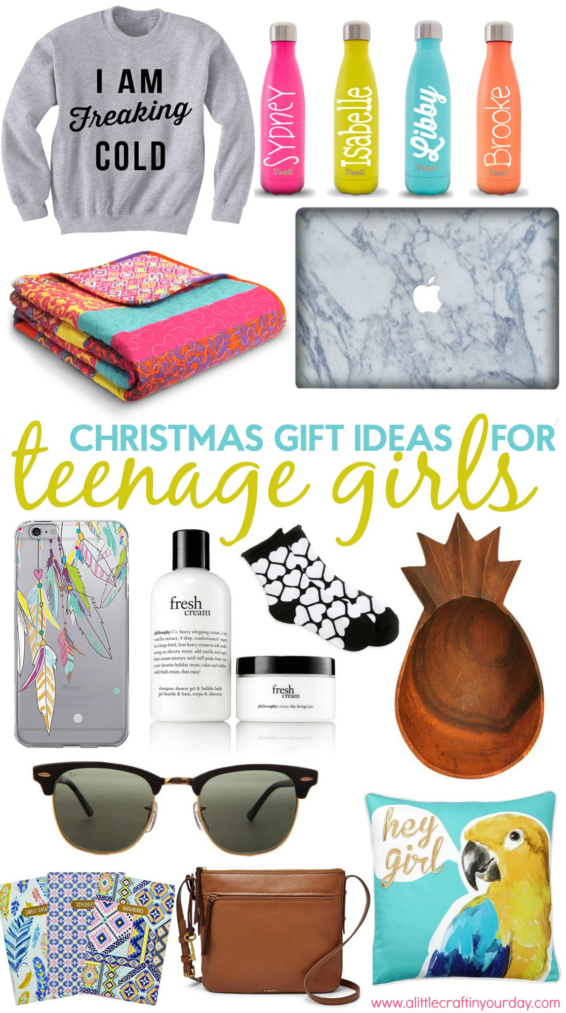 Teenager Gift Ideas For Girls  Christmas Gift Ideas for Teen Girls A Little Craft In