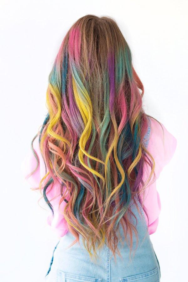 Temporary Hair Color DIY  DIY Temporary Colombré Hair