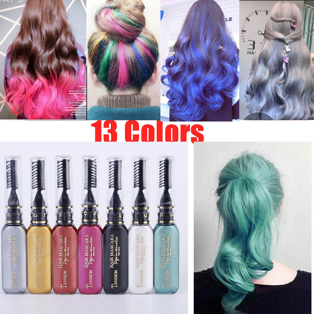 Temporary Hair Color DIY  13 colors one time hair color DIY Hair Dye Temporary Non