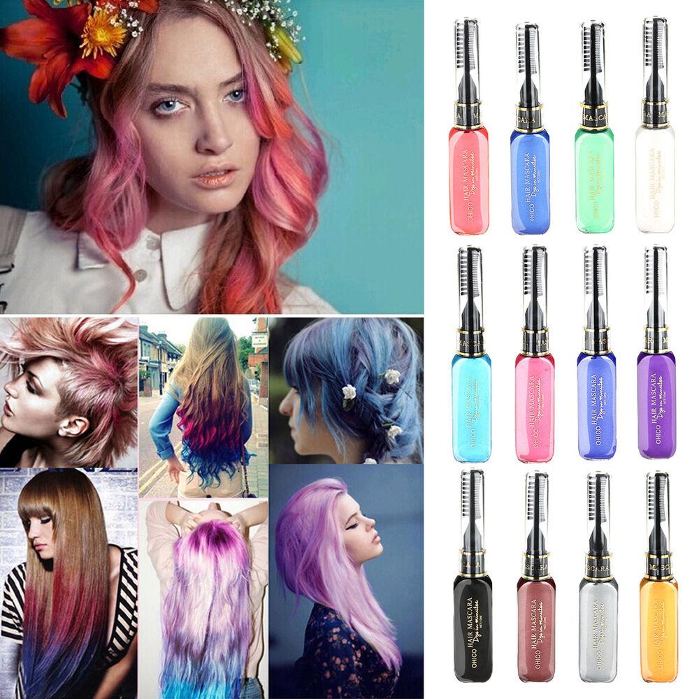 Temporary Hair Color DIY  1PC set Hair Dye Color Easy Temporary Non toxic DIY Hair