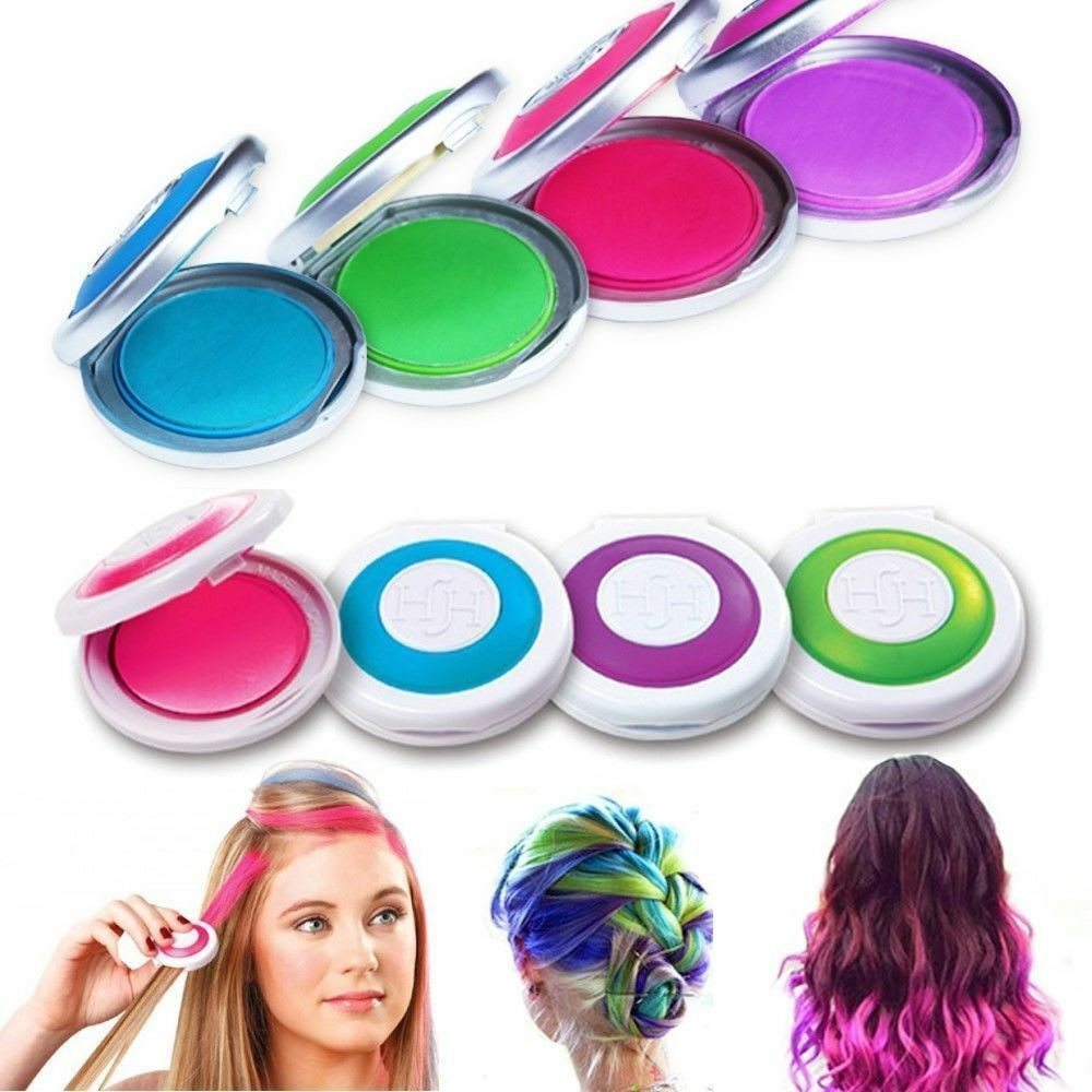 Temporary Hair Color DIY  4 colors Non toxic Temporary Easy DIY Hair Chalks Dye