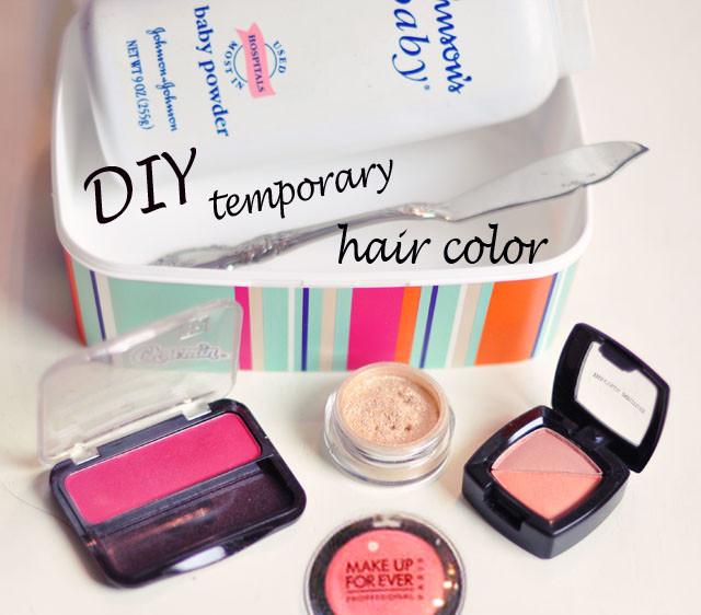 Temporary Hair Color DIY  DIY Temporary Hair Color Using Eye Shadow