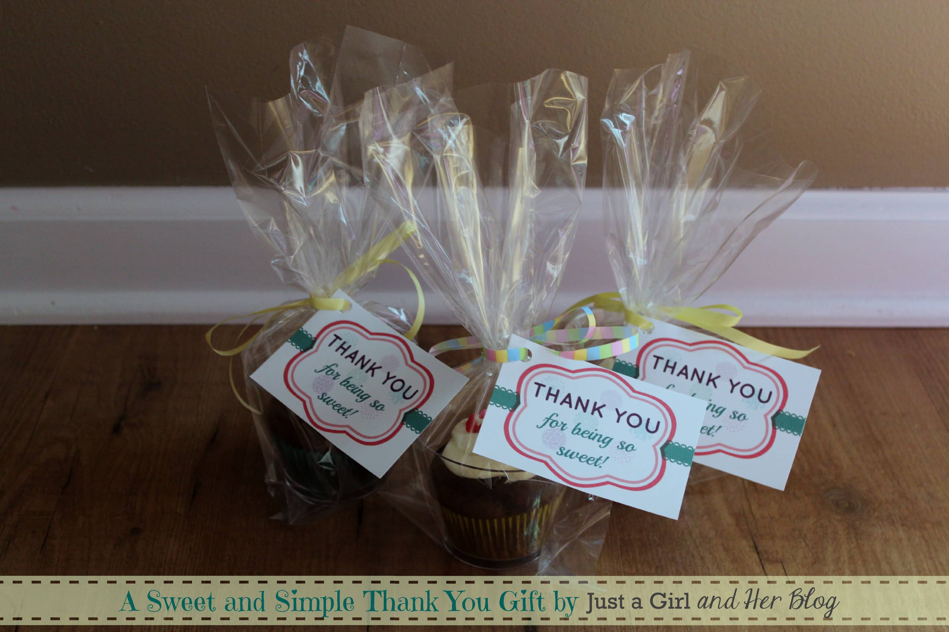 Thank You Gift Ideas  A Sweet and Simple Thank You Gift with FREE Printable